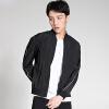 Мужская мужская рубашка YOSE с длинным рукавом Печать Мужская одежда Корейская мужская куртка Black M 170