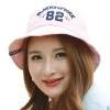 [Супермаркет] Jingdong ожесточенной Гданьск (шведские кроны) WMZ160502 леди шляпа складная большая корейского алфавит вышивка вдоль бассейна шапки шляпы розового