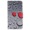Сердце образный водослива дизайн Кожа PU откидная крышка бумажника карты держатель чехол для SAMSUNG Galaxy J3/J3 2016 т пояса верности материал abs пластик