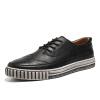 Обувь из натуральной кожи OKKO Bullock резная ботинок для ботинок Британские галстуки ретро мужская обувь для обуви 8767 черная 40 ярдов