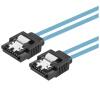 CE-LINK 2625 SATA3 от имени жесткого диска данных кабель прямой высокоскоростной двухканальный жесткий диск последовательный алюминиевый фольга кабель поддержка SSD твердотельный жесткий диск синий 0,45 метра самсунг samsung 850 120g sata3 ssd накопители