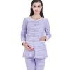 Любовь отцовство костюмы одежда материнство пижамы пижамы материнства одежда домашняя одежда костюм полоски сторона открытая M304 фиолетовый L