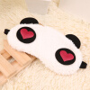 Cute Panda Спящая Face Eye Mask Blindfold Shade Traveling сна Eye Aid 200 pcs pack cpr resuscitator keychain mask key ring emergency rescue face shield first aid cpr mask with one way valve