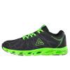 Пиковая (PEAK) мужская кроссовка поддерживает амортизационную износостойкую спортивную обувь DH640401 черный / флуоресцентный зеленый 43 ярдов