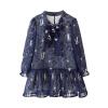 где купить  Cicie детская одежда для девочек дамы шифон с длинным рукавом темно-синий платье Sub 171 013 100  по лучшей цене