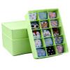 [Пробел] Кобо Jingdong ящика для хранения супермаркета пластикового с крышкой белья одежды ящиком для хранения 3 комплекта зеленый KF-115
