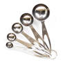 5PCS Measuring Spoon Cup Set Baking Coffee Tea Cooking Stainless Steel Utensil 460237 smile face style stainless steel fork spoon chopsticks set silver 3 pcs