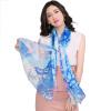 STORY OF SHANGHAI шелковый шарф женский осенний и зимний шелковый шелковый шарф шаль теней пестрый синий женский шарф l425