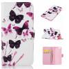 картина бабочки Дизайн Кожа PU откидная крышка бумажника карты держатель чехол для IPHONE 6 / 6S цветочный дизайн кожа pu откидная крышка бумажника карты держатель чехол для iphone 6s
