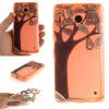 Ручная роспись деревья шаблон мягкой тонкой ТПУ Резиновая крышка случая силикона геля для Nokia Lumia 630 ручная роспись деревья шаблон мягкой тонкой тпу резиновая крышка случая силикона геля для huawei y5 ii