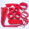 7pcs рыжая шкура кабалы SM фетиш установлен комплект веревки с кнутом наручники кляп гей секс - игрушек  470032 ouch wooden bridle с фиолетовым ремешком кляп в форме палочки