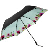 Jingdong [супермаркет] рай зонтик (UPF50 +) в кости врезаться винил углеродного волокна сверхлегких зонтик сложенный зонтик 31816E карта красный егерь последний билет в рай котенок