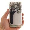 Ручная роспись деревья шаблон мягкой тонкой ТПУ Резиновая крышка случая силикона геля для Lenovo Vibe K5