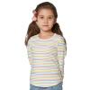 Le квартал за кварталом (JJLKIDS Partner Club) Дети Девушка с длинными рукавами футболка полосатых рубашек Детей свитера GCT62002 опалом 105
