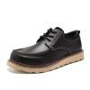 OKKO инструментальная обувь мужская большая обувь британская наружная повседневная обувь круглая толстая обувь обувь обувь 8763 черный 40 ярдов обувь shoiberg