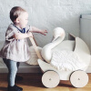 цена MyMei Fashion Handmade Soft Velvet Kids Baby Princess Swan Stuffed Toys Pillow Toys Bedding Decor Home Decoration онлайн в 2017 году