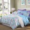 Meng Jie домашний текстиль производства MEE постельные принадлежности набор хлопка печати четыре комплекта постельного белья хлопка одеяло Келли сад синий 1,5 м кровать 200 * 230 см