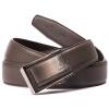 沙驰(SATCHI)皮带时尚百搭男士牛皮腰带 自动扣皮带腰带男青年皮带 FN414314-041F啡色