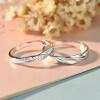 JPF с раскрытием кольца кольца пара одну пару алмазов кольцо серебряное кольцо буквенное женщин японских и корейских мужчин Кольцо Кольцо серебро ювелирные изделия пара (центральный лицензирования регулируемые модели) одна пара цена ZH58