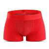 VKWEIKU британские брюки мужские нижнее белье плоские угловые брюки мужское нижнее белье модальные четыре угловые брюки красный L