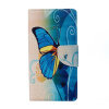 Blue Butterfly Design PU Leather Flip Cover Wallet Card Holder Case for Lenovo K6 Note dollar price women cute cat small wallet zipper wallet brand designed pu leather women coin purse female wallet card holder