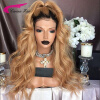 150% Peruvian Virgin Human Hair Glueless Wigs T1b#/27# Full Lace Wigs with Middle Part Long Swiss Lace Human Hair with Baby Hair  u part human hair wigs 150