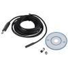 7мм 6 LED USB Водонепроницаемый эндоскоп Borescope Контроль трубок видеокамеры 5M видеокамеры