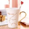 Soul Корейский фарфор чашка кофе керамическая кружка любителей чашки с крышкой ремня ложка костюм зодиака Овен джемпер brave soul brave soul br019ewulg38