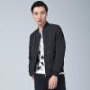YOMS куртка мужской с длинными рукавами мужской толще, выводящие на печати мужской моды Корейской мужское пальто черного XXL 185