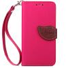 Розовый Дизайн Кожа PU откидная крышка бумажника карты держатель чехол для HTC Desire 820