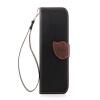 Черный Дизайн Кожа PU откидная крышка бумажника карты держатель чехол для HTC One M8 розовый дизайн кожа pu откидная крышка бумажника карты держатель чехол для htc one a9