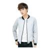 Zhuo Shou защитная куртка мужская мода мужской корейский бейсбол воротник куртка Slim 4 пряжка воротник мужская одежда 1555-JK31 светло-серый XXL