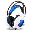 Европа, где (OVANN) X90-C вибрации белый и синий светоизлучающий профессиональные киберспорт игровой гарнитуры
