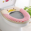 [Супермаркет] Шэн укладки Jingdong товар еще толстый липкий кнопка туалет коврик туалет чехол туалет коврик четыре комплекта Maple Leaf трикси коврик под туалет пвх 37 × 45 см темно синий