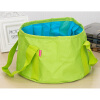 MyMei 1 * 15 L Portable Foldable washbasin camping outdoor sink towel PEVA 30 * 18CM