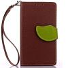 Коричневый Дизайн Кожа PU откидная крышка бумажника карты держатель чехол для Xiaomi 4S/M4s розовый дизайн кожа pu откидная крышка бумажника карты держатель чехол для xiaomi 4s m4s