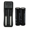 2pcs 18650 6000mAh 3.7V литий-ионная аккумуляторная батарея + зарядное устройство аккумулятора зарядное устройство duracell cef14 аккумуляторы 2 х aa2500 mah 2 х aaa850 mah