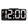 TXL будильник творческий светящий беззвучный будильник двойной USB большой будильник черный немой светодиод Zhong Ruisi Plus-E синий свет будильник кварцевый mikhail moskvin цвет синий 2816 2