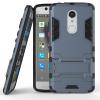 Темно-синий Slim Robot Armor Kickstand Ударопрочный жесткий корпус из прочной резины для ZTE AXON 7 Mini zte axon 7 mini 4g smartphone