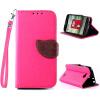 Розовый Дизайн Кожа PU откидная крышка бумажника карты держатель чехол для LG L90 коричневый дизайн кожа pu откидная крышка бумажника карты держатель чехол для lg l90