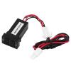 Dual USB зарядное гнездо Dashboard сотовый телефон зарядное устройство для TOYOTA