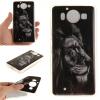 Черный лев шаблон Мягкий чехол тонкий ТПУ резиновый силиконовый гель чехол для Nokia Lumia950 черный лев шаблон мягкий чехол тонкий тпу резиновый силиконовый гель чехол для lg k8