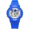 Дисней (DISNEY) детские часы многофункциональные светящиеся водонепроницаемые электронные часы синие мальчики и девочки серии детские спортивные часы PS018 детские часы