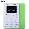 AIEK X6 1.0 дюйма Ультратонкий карты телефон Bluetooth 3.0 FM аудиоплеер