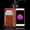 Кожа Раскладной телефон чехол для Iphone 6 6s 7 7s плюс сотовый телефон ретро крышки масляного бумажника держателя карты Stand тел телефон