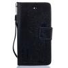 Черные Любители и одуванчика Стиль Тиснение Классический откидная крышка с подставкой Функция и слот кредитной карты для SONY Xperia X