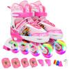 Воин броневые ребенка коньки роликовые ботинок для мужчин и женщин, игрушки на открытом воздухе полной вспышки коньки KJ336 синего кода S роликовые коньки tempish mondial