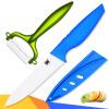 5-дюймовый нарезка нож с Овощечистка Ножи кухонные XYJ Марка синей ручкой белое лезвие Керамические ножи xyj марка 5 дюймовый нож нарезка керамические ножи и нож кухонный нож набор приготовления инструменты лучшие подарки