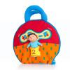 Счастливый LALABABY / La Labu книга трехмерной ткани книга ткань книга ребенок образовательного раннее детство игрушка один день