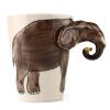 Fun 3D Кубические керамические кружки Креативные подарки Кубки Кофейные чашки Подарки для дня рождения Слоны
